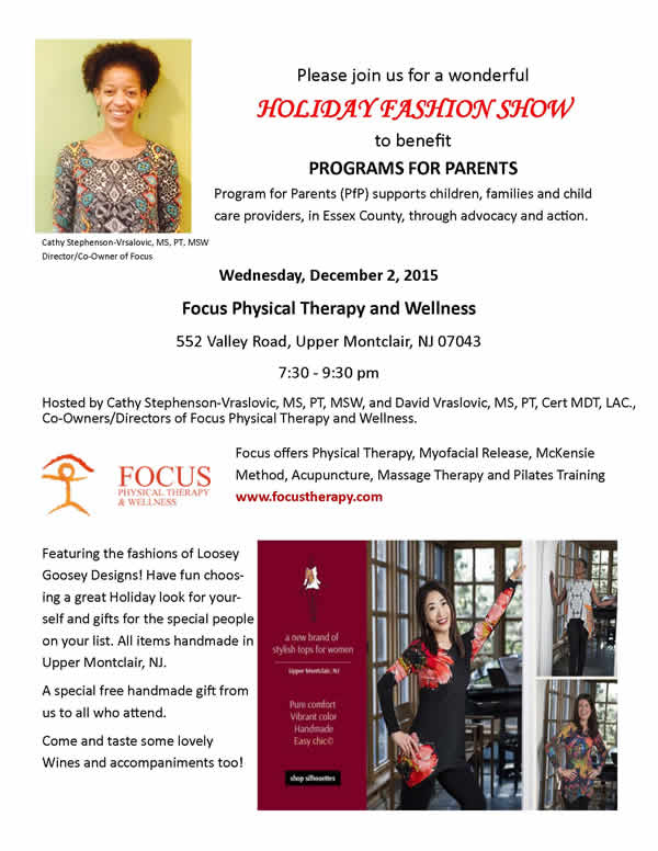 Please join us for a Holiday Fashion Show